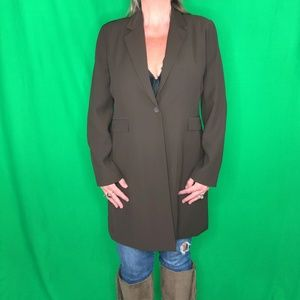 Apostrophe 16 Brown Long Jacket Blazer
